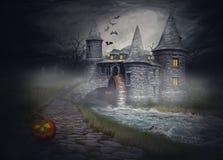 Иллюстрация на теме хеллоуина Стоковое Изображение