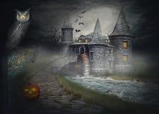 Иллюстрация на теме хеллоуина Стоковое фото RF