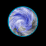 Иллюстрация - неизвестная планета. Стоковое Фото
