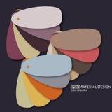 Иллюстрация необыкновенной современной материальной предпосылки дизайна Стоковое Изображение RF
