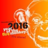 Иллюстрация Нового Года обезьяны Стоковая Фотография RF