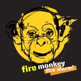Иллюстрация Нового Года обезьяны Стоковая Фотография