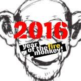 Иллюстрация Нового Года обезьяны Стоковое фото RF