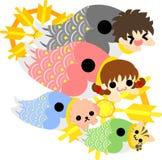 Иллюстрация дня детей Стоковое Изображение RF