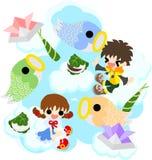 Иллюстрация дня детей Стоковые Фото
