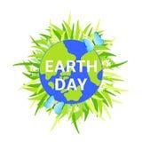 Иллюстрация дня земли Земля Бабочки Colorfull Стоковое Изображение