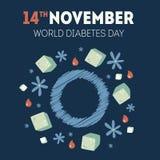 Иллюстрация дня диабета Стоковые Изображения RF