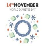 Иллюстрация дня диабета Стоковое Изображение
