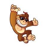 Иллюстрация обезьяны шаржа Стоковое Изображение RF