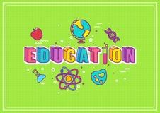 Иллюстрация образования Стоковое Изображение RF