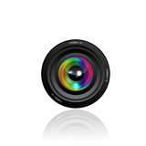 Иллюстрация объектива фотоаппарата Стоковые Изображения RF