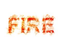 Иллюстрация ` ОГНЯ ` слова стилизованная с дымом Стоковые Изображения RF