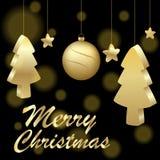 Иллюстрация логотипа значка для Нового Года и рождества праздника торжества иллюстрация штока