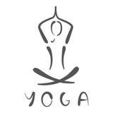 Иллюстрация логотипа йоги Стоковое фото RF