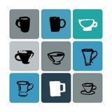 Иллюстрация логотипа магазина чая установленная Стоковые Фото