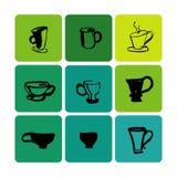 Иллюстрация логотипа магазина чая установленная Стоковое Фото