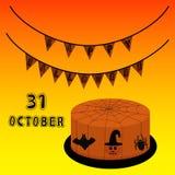 Иллюстрация логотипа на хеллоуин иллюстрация вектора