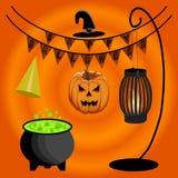 Иллюстрация логотипа на хеллоуин Стоковые Фото
