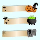 Иллюстрация логотипа на хеллоуин Стоковое фото RF