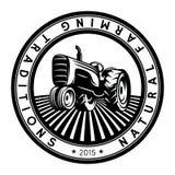 Иллюстрация логотипа трактора вектора вектор иллюстрации декоративной эмблемы конструкции графический Стоковые Изображения RF