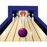 Иллюстрация логотипа для боулинга Стоковое Изображение RF