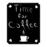 Иллюстрация логотипа для кофе чашки Стоковое фото RF
