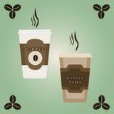 Иллюстрация логотипа для кофе Стоковое Изображение