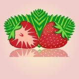 Иллюстрация логотипа для клубники темы Стоковые Фотографии RF