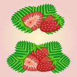 Иллюстрация логотипа для клубники темы иллюстрация вектора