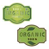 Иллюстрация логотипа для органического Стоковые Фото