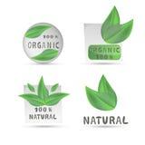 Иллюстрация логотипа для органического Стоковая Фотография