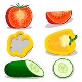 Иллюстрация логотипа для темы овощей Стоковые Фотографии RF