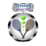Иллюстрация логотипа для тенниса лужайки Стоковое Изображение