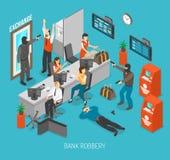 Иллюстрация ограбления банка Стоковая Фотография