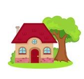 Иллюстрация дома на белой предпосылке Стоковые Изображения RF