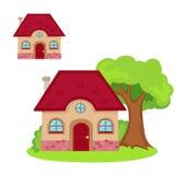 Иллюстрация дома на белой предпосылке Стоковые Изображения
