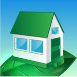 Иллюстрация дома на листьях Иллюстрация вектора