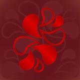 Иллюстрация орнамента элементов красного огня Стоковые Фотографии RF
