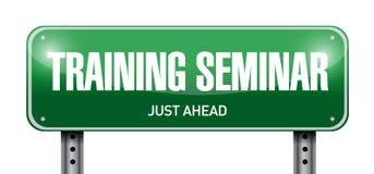 иллюстрация дорожного знака тренировочного семинара Стоковые Изображения