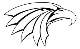 Иллюстрация орла головная Стоковое фото RF