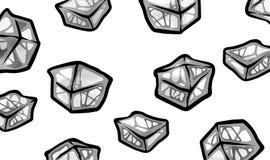 Иллюстрация освежать холодные серые кубы льда Стоковая Фотография