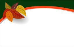 иллюстрация осени выходит вектор Стоковые Фотографии RF