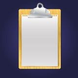 Иллюстрация доски сзажимом для бумаги Стоковая Фотография RF