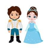 Иллюстрация очень милого принца и принцессы Стоковая Фотография