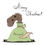 Иллюстрация лошади для рождества Стоковое Фото