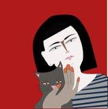 Иллюстрация о девушке Reilly Стоковая Фотография RF