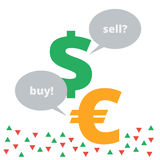 Иллюстрация одно валют комплекта Стоковое Фото