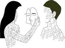 Иллюстрация о чувствах влюбленности Стоковые Изображения RF