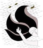 Иллюстрация о чувствах влюбленности Стоковые Изображения