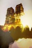 Иллюстрация Парижа вечера Стоковые Фото